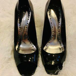 BCBGENERATION black peep toe heels size 7